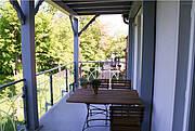 Balkon der Ferienwohnung 13 in der Villa Wagenknecht