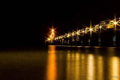 Seebrücke Boltenhagen bei Nacht