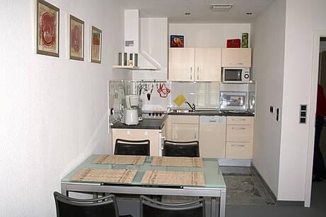 Küche der Ferienwohnung 07 in der Villa Wagenknecht
