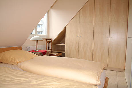 Schlafzimmer Ferienwohnung 10 Villa Wagenknecht