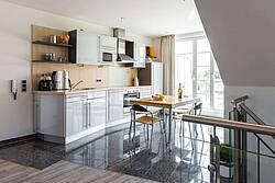 Küche der Ferienwohnung 11 in der Villa Höger