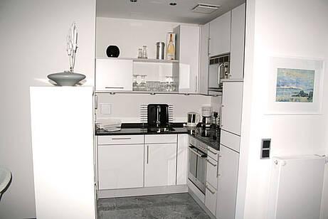 Küche der Ferienwohnung 08 in der Villa Wagenknecht