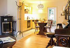Küche der Ferienwohnung 02 im Landhaus Victoria