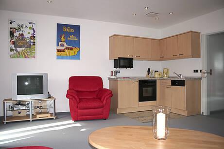 Küche in der Ferienwohnung 01 der Villa Wagenknecht