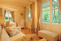 Wohnbereich der Ferienwohnung 05 im Landhaus Victoria