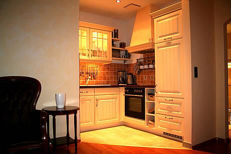 Küche der Ferienwohnung in der 14 Villa Wagenknecht