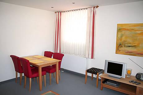 Essplatz der Ferienwohnung 09 in der Villa Wagenknecht