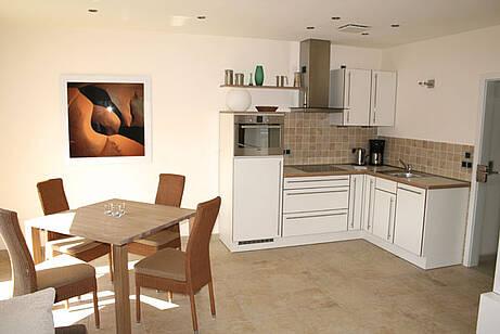Küche der Ferienwohnung 04 in der Villa Wagenknecht