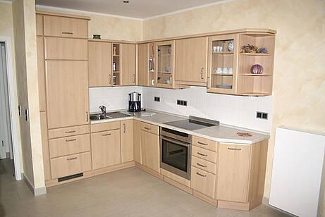 Küche der Ferienwohnung 05 in der Villa Wageknecht