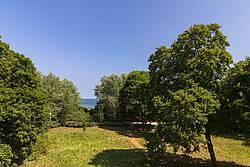 Ausblick aus der Ferienwohnung 13 Villa Wagenknecht auf die Ostsee